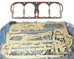 Model T Engine Gasket set with New Silicone/Steel  Head gasket.  - 3002SSIL