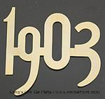 "Model T Gold plated brass numbers, 2"" high. 1903 for radiator - 3925-03"
