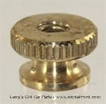 Model T Large brass knurled nuts for coil box set of 15 - 5005KN