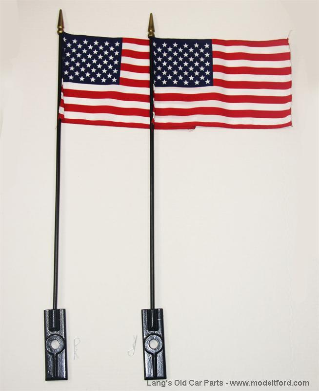 Model T Bumper Flags And Holder A Fh B