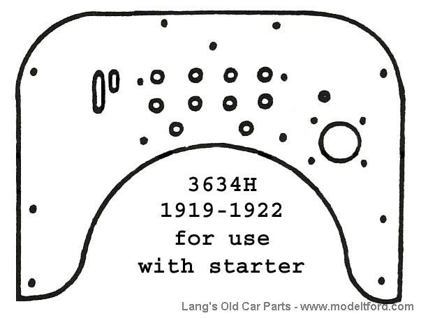 model t firewall  one piece  for cars with starter  birch