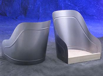 Model T Speedster Seat Skins Pair With Wooden Base No 815