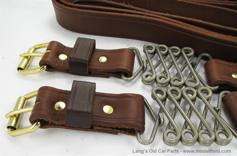 Model T Hood Straps Natural Color Leather Straps With