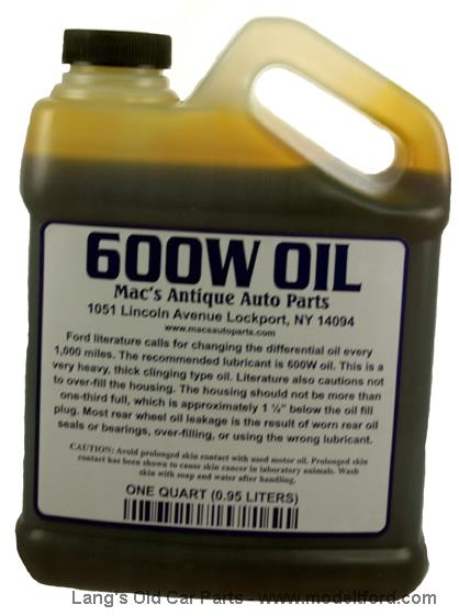 Model t 600w rear axle grease 1 qt container 600w for Heavy weight motor oil