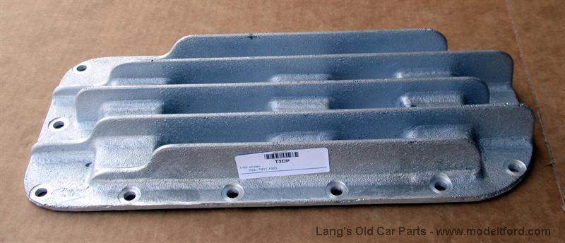 Model T 3 Dip Oil Pan Cover Finned Aluminum T3dp