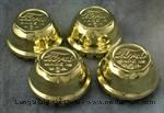 "Model T Wire wheel hubcap set, brass, ""Ford MADE IN U.S.A."" - 2885B"
