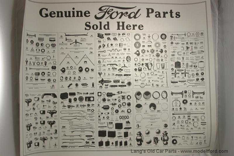 model t genuine ford parts u0026quot  poster  a