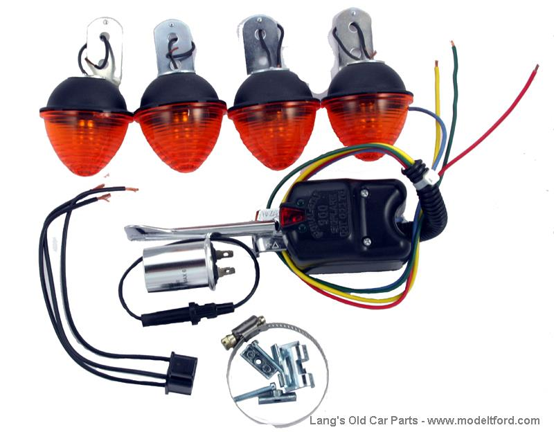 Model T Directional Turn Signal Kit With Lights 6 Volt