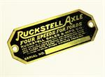Model T Ruckstell axle data plate - 1865RB