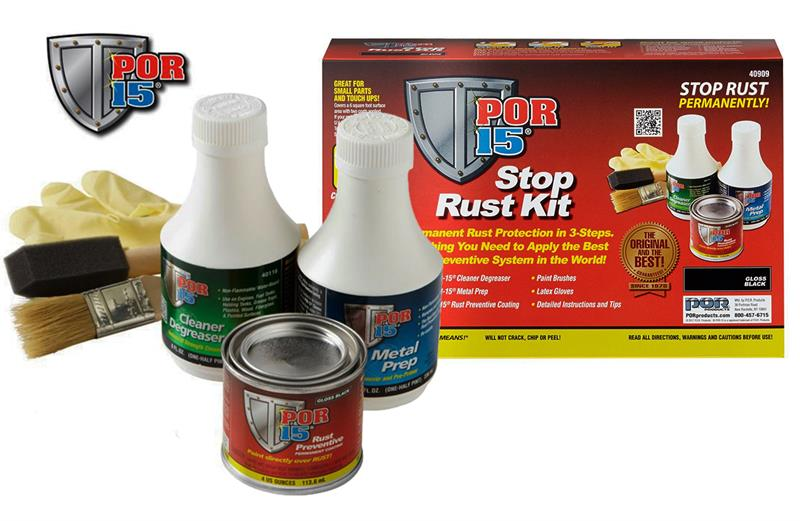 POR-15 STOP RUST KIT  Samples, Clean, prep and paint
