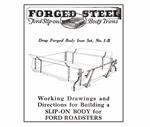 "Model T Roadster ""Slip-On"" Pick-Up Body Plans - FB2"