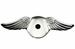 Model T Gull wing radiator cap, chrome SWEPT BACK wing style