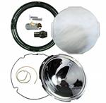 Model T Headlight Rebuilding Kit, BLACK Rim with Flat Glass Lens - 6500BLE