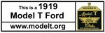 This is a 1919 Model T Ford bumper magnet - A-BS-19